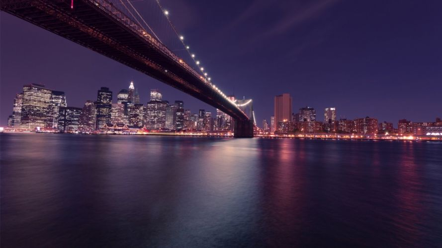 New York Cityscape Brooklyn Bidge wallpaper
