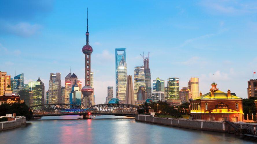 shanghai cityscape wallpaper