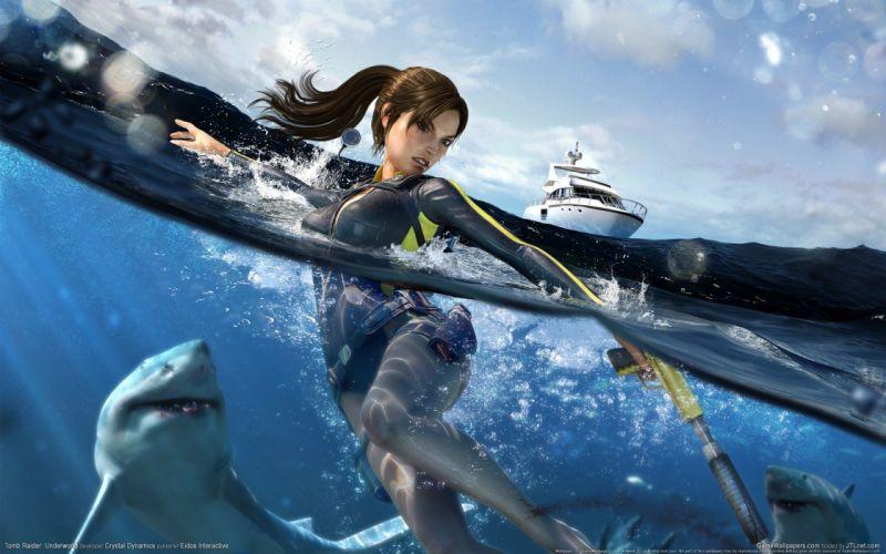 vidareo juego mar barco tiburon mujer wallpaper