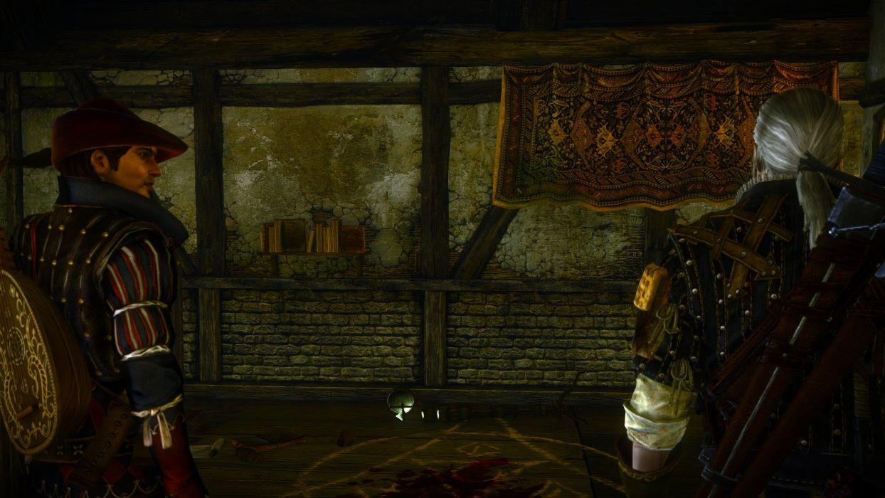 The Witcher 2 Assassins of Kings Geralt Dandelion Blood Teleport wallpaper
