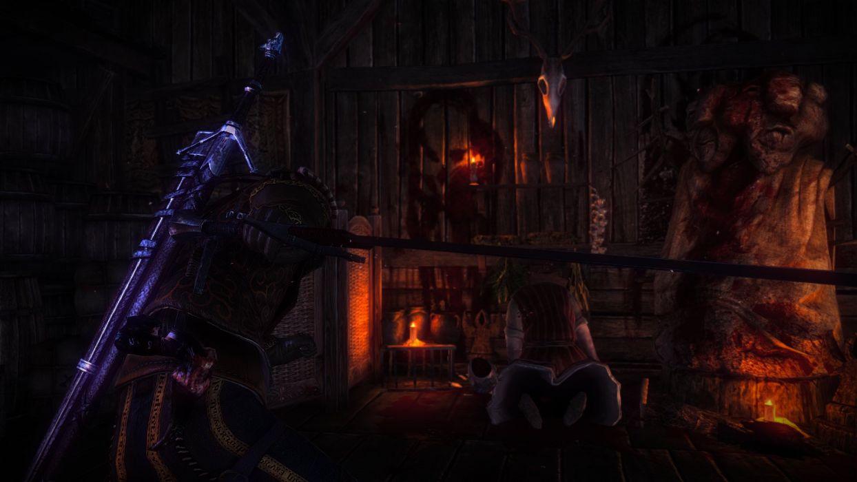 The Witcher 2 Assassins of Kings Marietta Loredo Behead Gerald Sword wallpaper