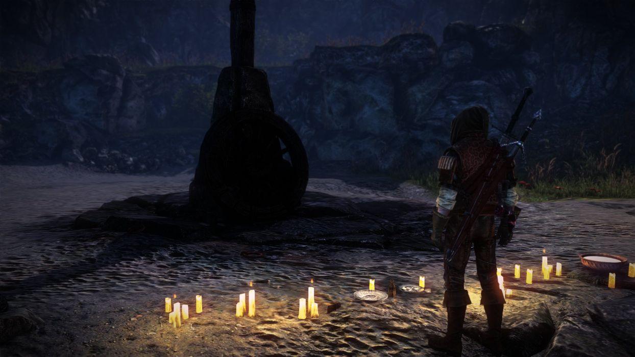 The Witcher 2 Assassins of Kings Pile Candles Geralt wallpaper