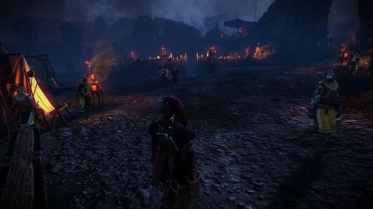 The Witcher 2 Assassins of Kings Keadwen Soldier Camp Geralt wallpaper