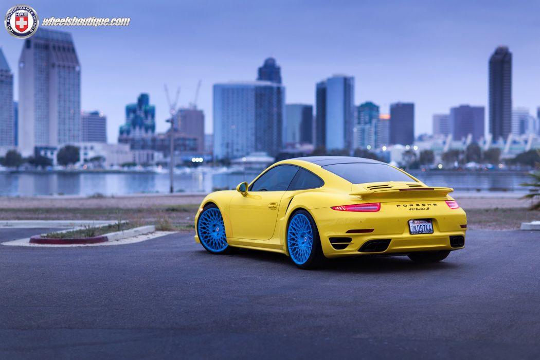Porsche 991 Turbo S HRE wheels wallpaper