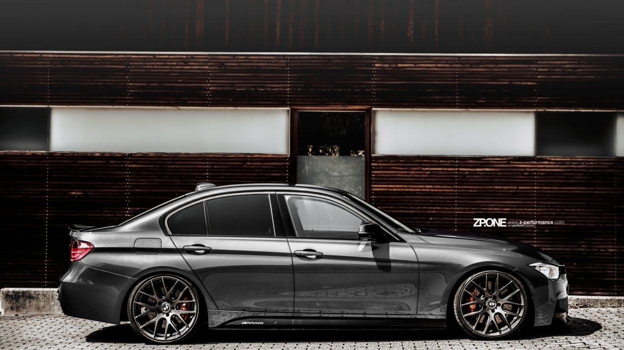 BMW F30 with personalized wheels UHD wallpaper