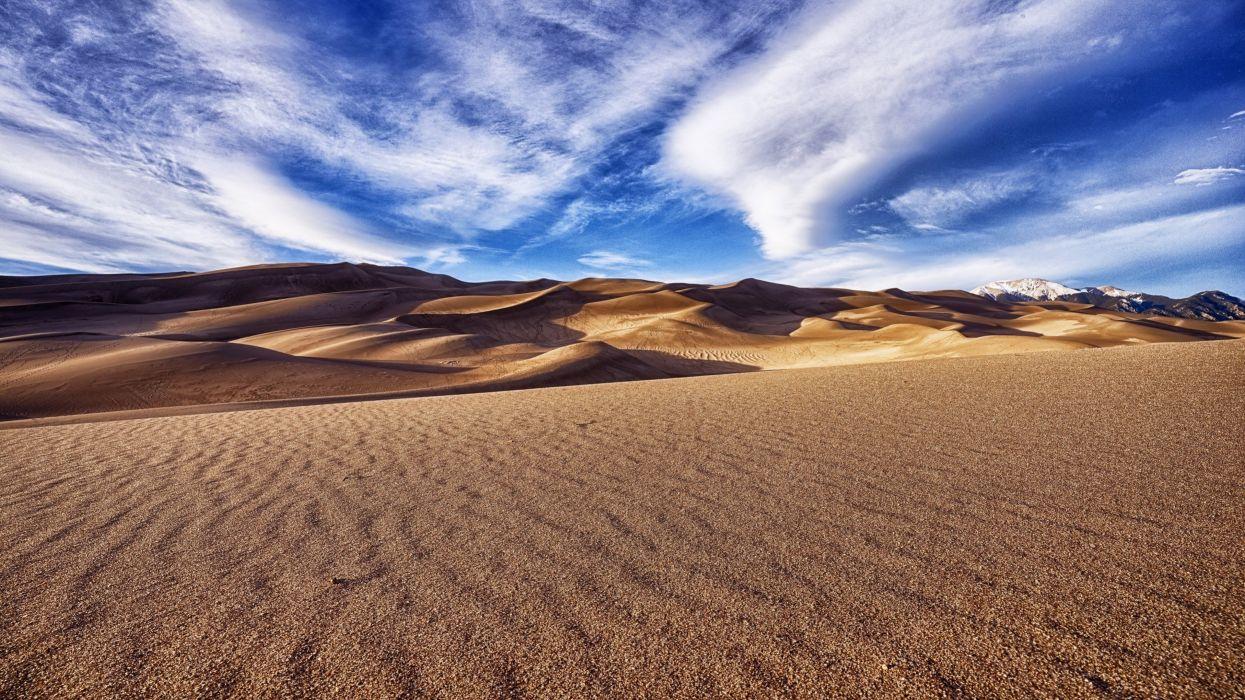 In the sand dunes wallpaper