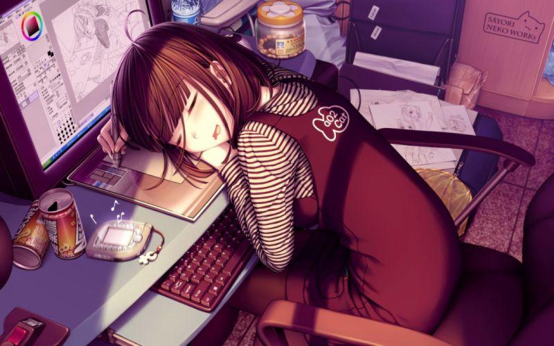 Anime girl computer wallpaper