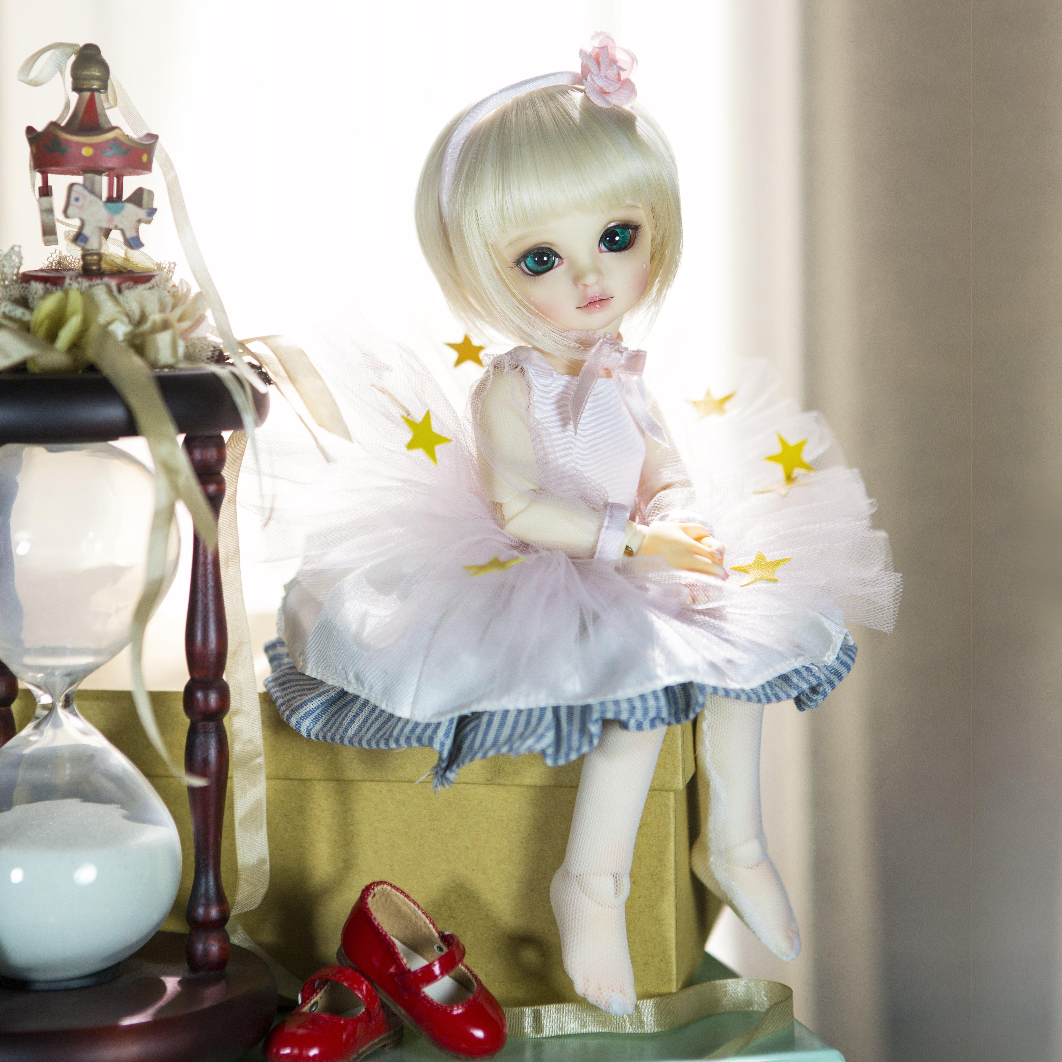 Cute Doll Live Wallpaper: Doll Girl Short Hair Beauty Toys Baby Blonde Cute