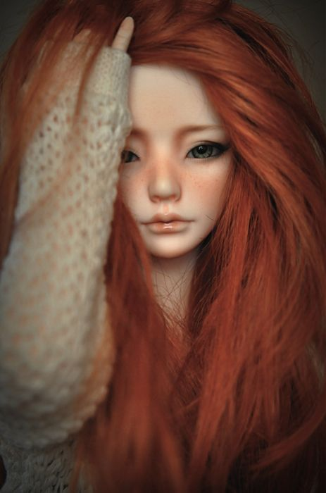 doll toys baby girl beauty long hair cute red wallpaper