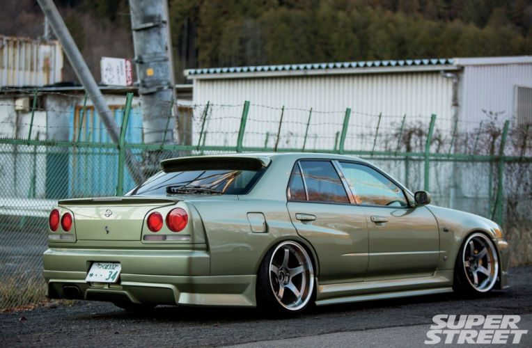 2000 Nissan Skyline-GT coupe cars modified wallpaper