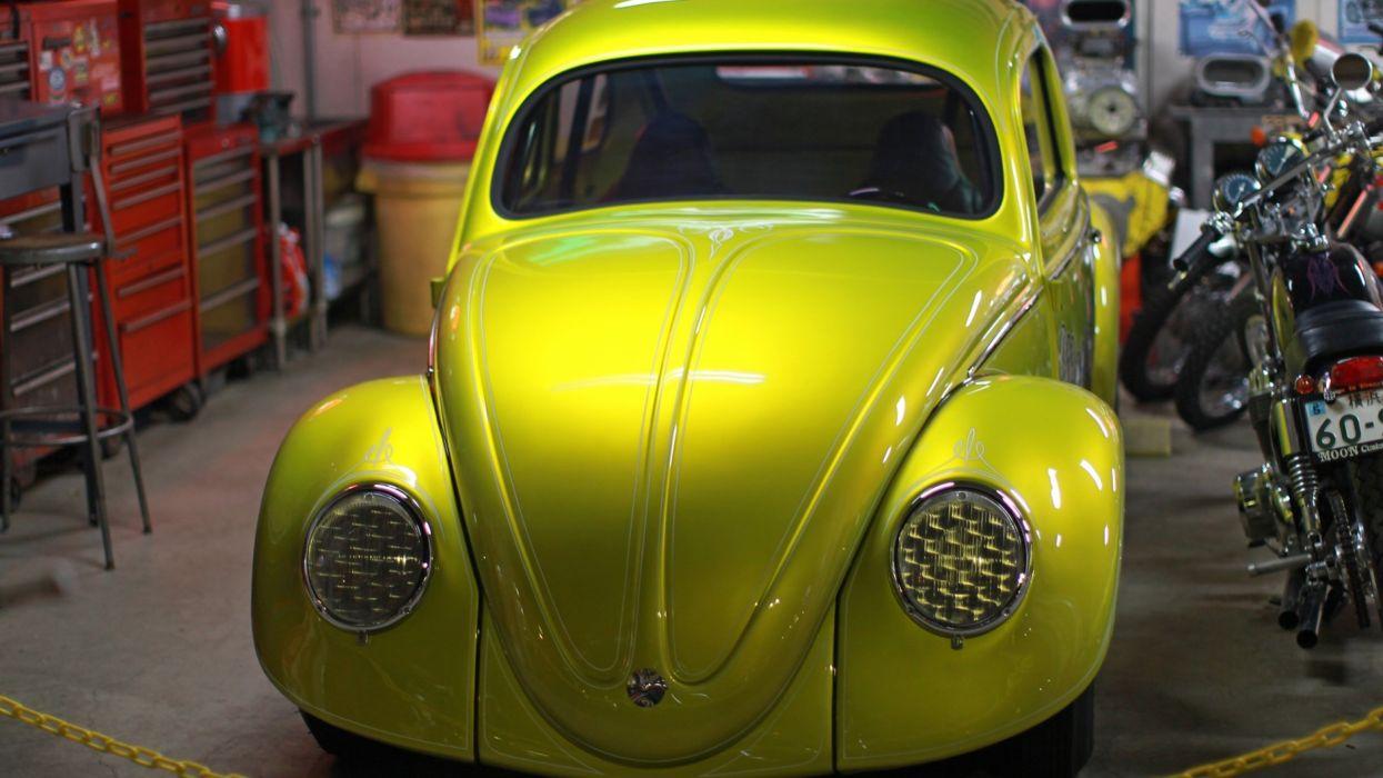 VOLKSWAGON BEETLE bug custom lowrider socal tuning wallpaper