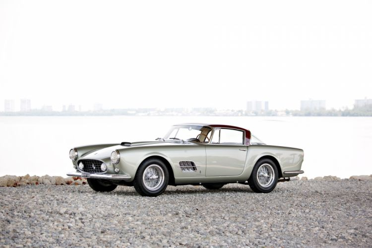 1957 Ferrari 410 Superamerica Coupe Series-II Pininfarina supercar race racing retro wallpaper