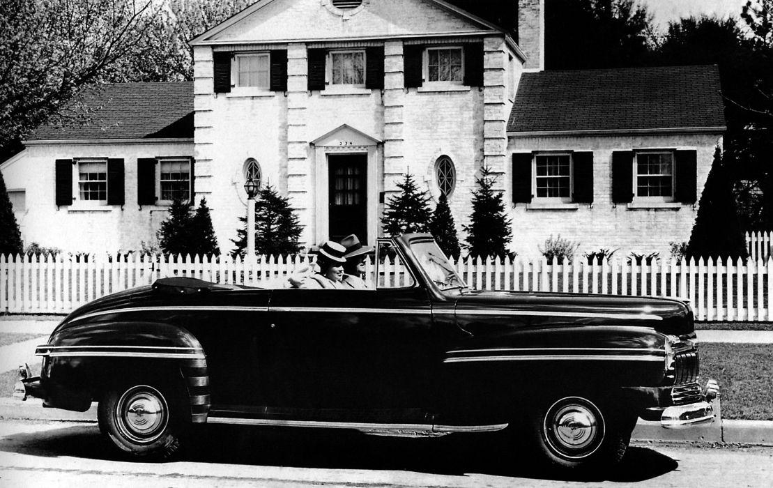 1946 Mercury Eight Club Convertible retro wallpaper