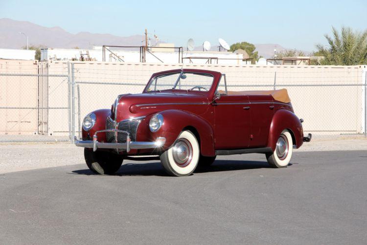 1940 Mercury Eight Convertible Sedan 09A-74 retro wallpaper