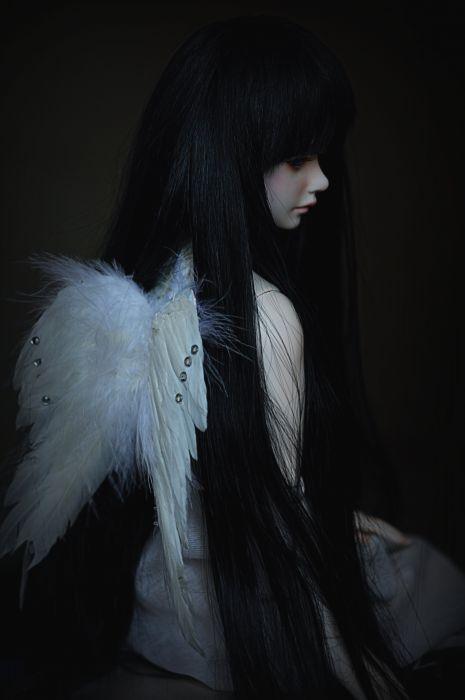 toys doll baby long hair wings girl beautiful wallpaper