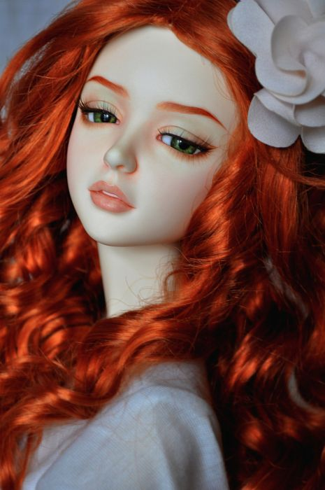 toys doll baby long hair girl beautiful red hair green eyes wallpaper