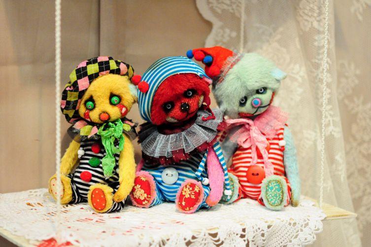 toys cute clown wallpaper