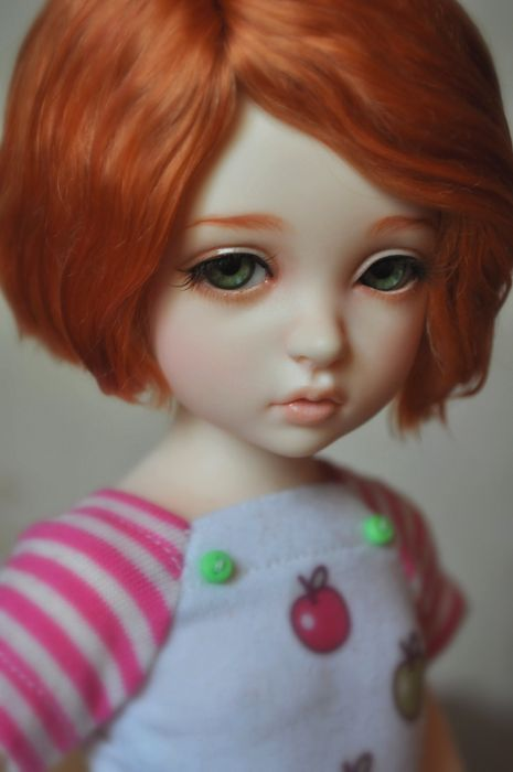 toys doll baby short hair girl beautiful red hair cute wallpaper