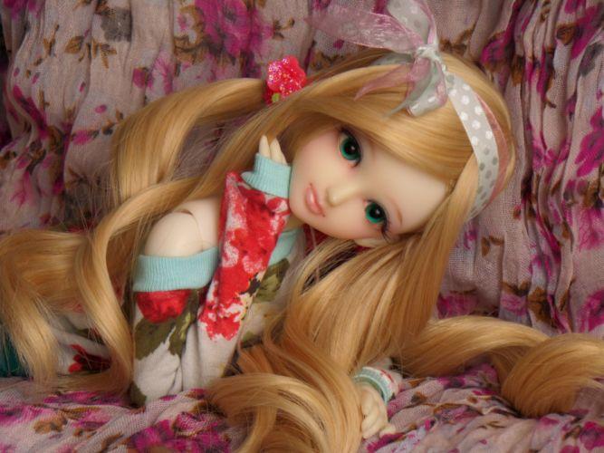 toys doll baby long hair girl beautiful blonde cute wallpaper