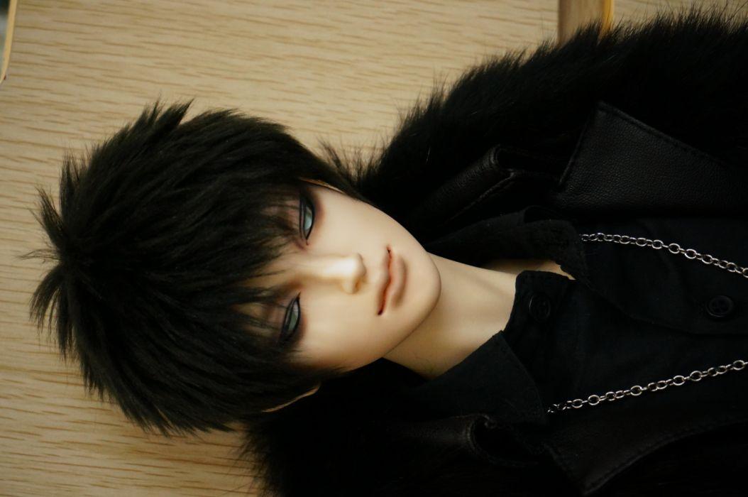 toys doll baby short hair male beautiful cute dark blue eyes wallpaper