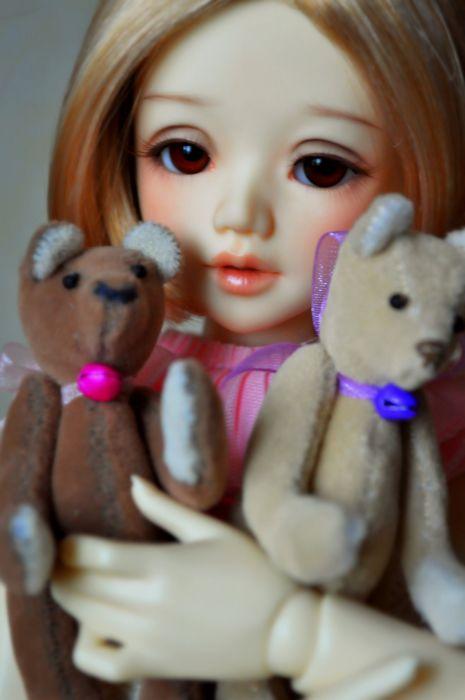 toys doll baby long hair girl beautiful brown eyes cute wallpaper
