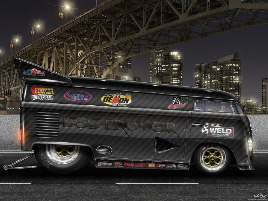VOLKSWAGEN BUS van truck volkswagon custom tuning lowrider socal hot rod rods race racing drag f wallpaper