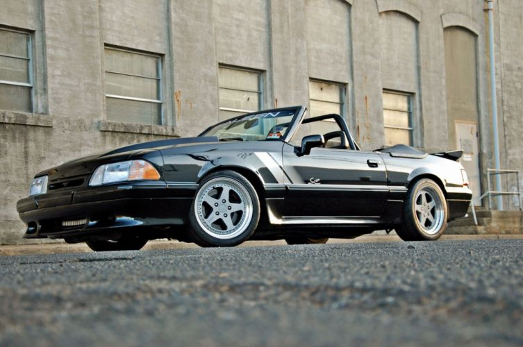 1993 Ford Mustang Convertible custom hot rod rods muscle wallpaper