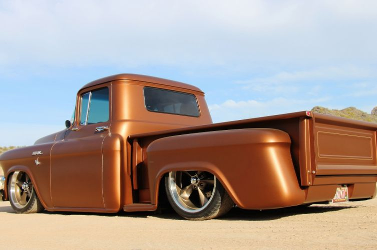 1957 GMC 100 Jimmy pickup custom hot rod rods retro lowrider g wallpaper