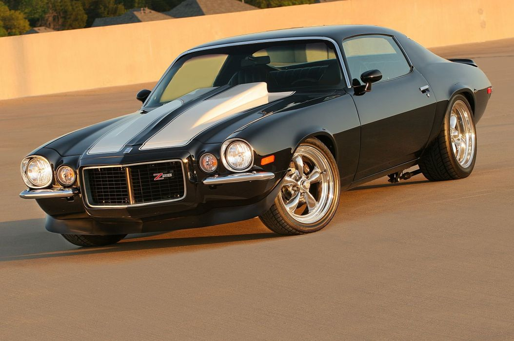 1971 Chevrolet Camaro muscle hot rod rods custom classic z28 f wallpaper