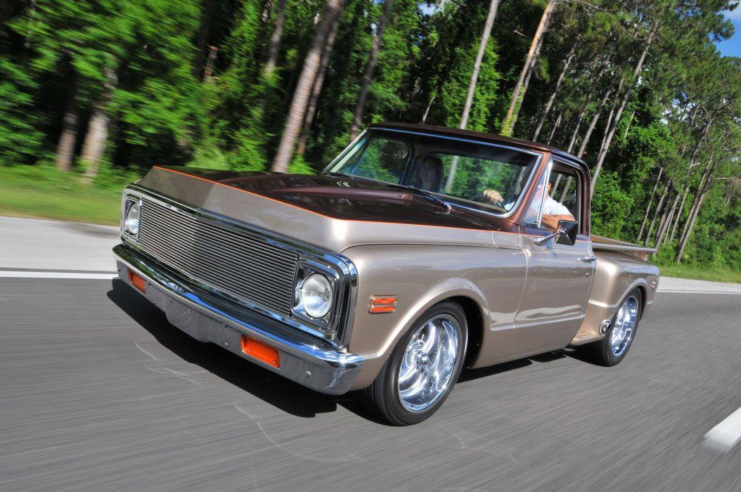 1972 Chevrolet C10 Stepside pickup hot rod rods custom classic wallpaper