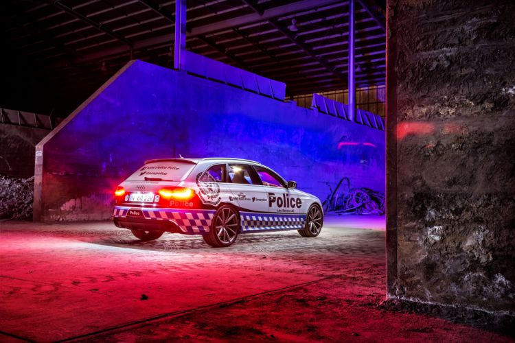 2015 Audi RS4 Avant Police AU-spec stationwagon emergency wallpaper