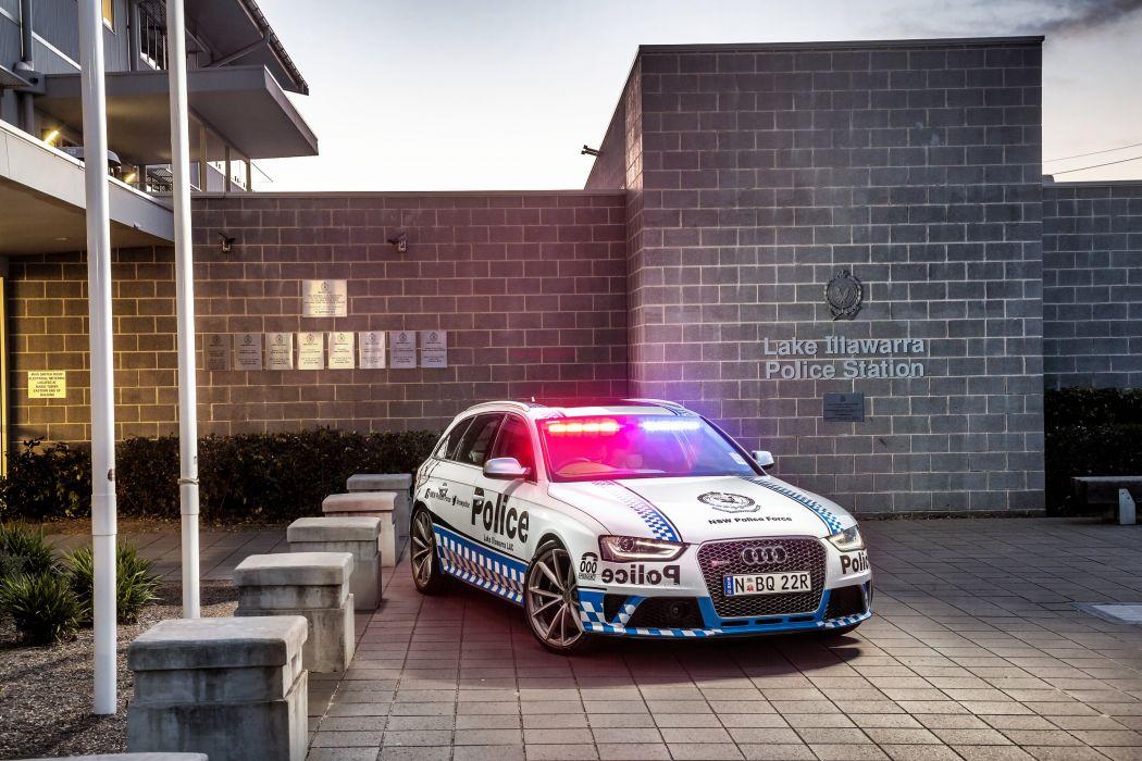2015 Audi RS4 Avant Police AU-spec stationwagon emergency wallpaper
