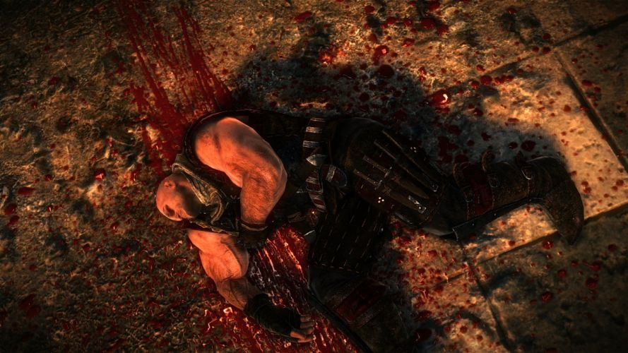 The Witcher 2 Assassins of Kings Letho Dead Blood Death wallpaper