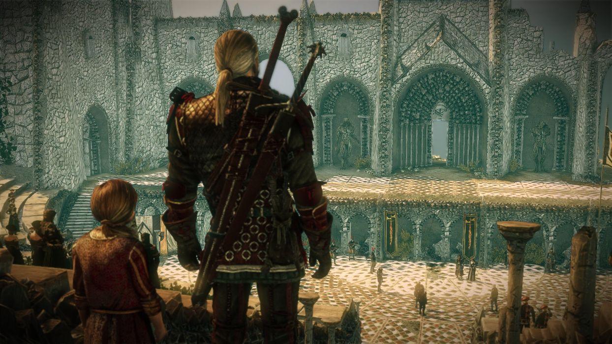 The Witcher 2 Assassins of Kings Geralt Sword Anais wallpaper