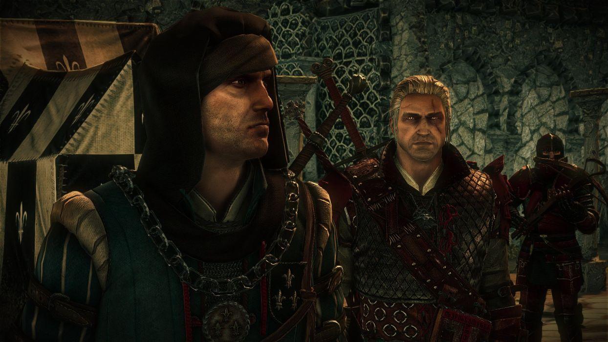 The Witcher 2 Assassins of Kings Geralt Vernon Roche wallpaper
