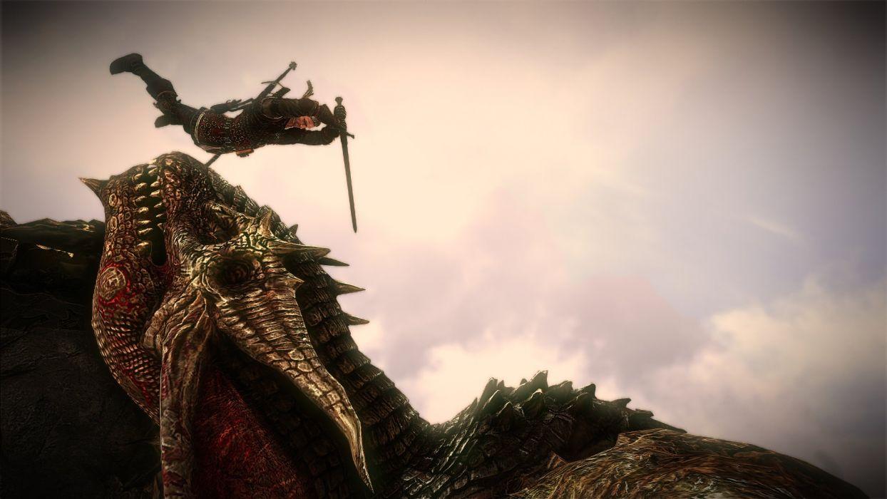 The Witcher 2 Assassins of Kings Geralt Sword Saesenthessis wallpaper