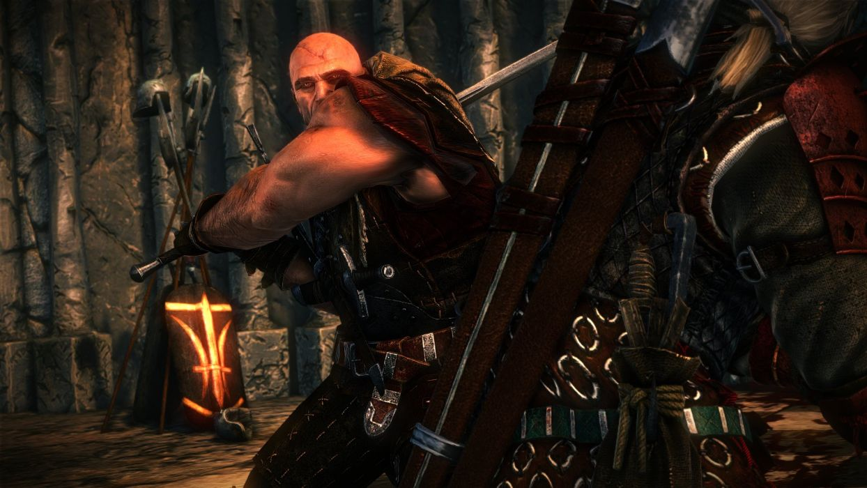 The Witcher 2 Assassins of Kings Letho Sword Fight Geralt wallpaper