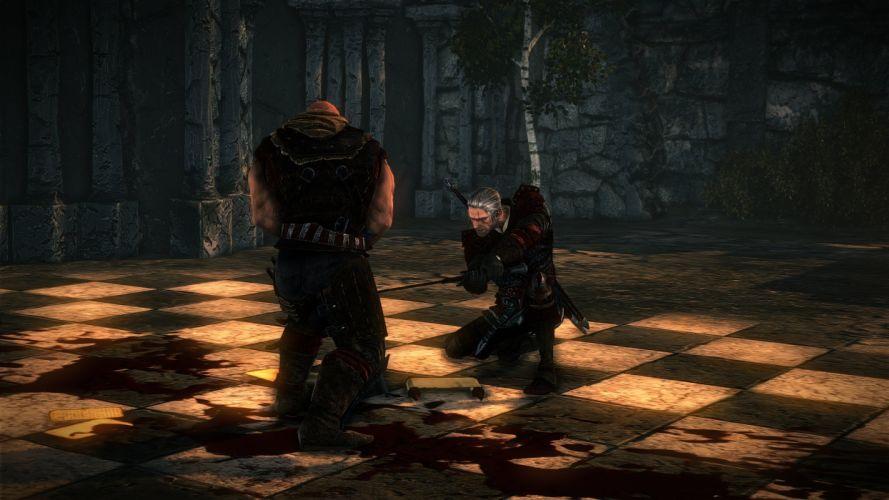 The Witcher 2 Assassins of Kings Geralt Sword Fight Letho wallpaper