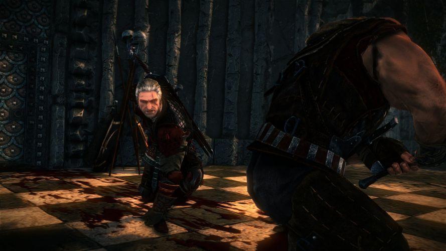 The Witcher 2 Assassins of Kings Geralt Anger Sword Fight Letho wallpaper