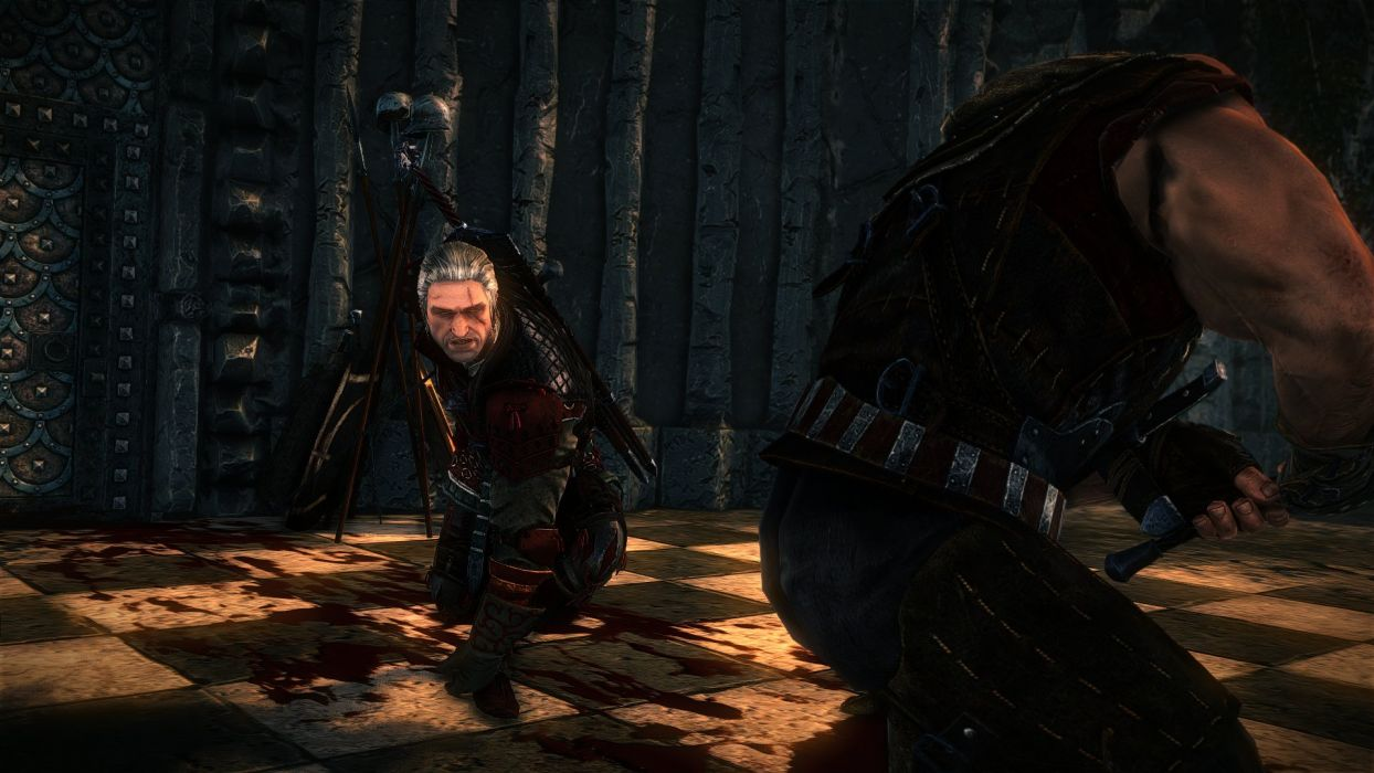 The Witcher 2 Assassins of Kings Geralt Anger Sword Fight Letho wallpaper