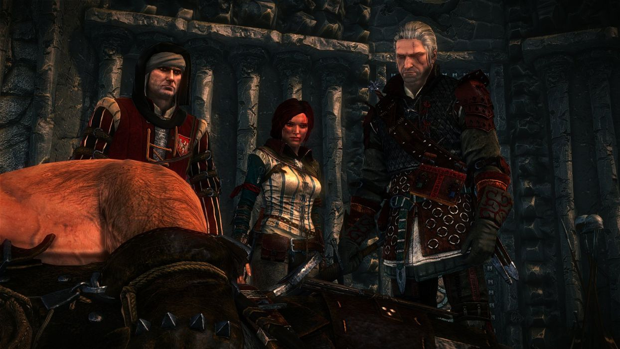 The Witcher 2 Assassins of Kings Geralt Triss Merigold Vernon Roche Letho Dead wallpaper