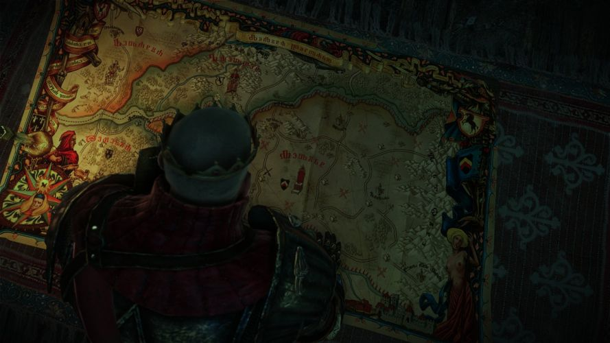 The Witcher 2 Assassins of Kings Radovid V Map wallpaper