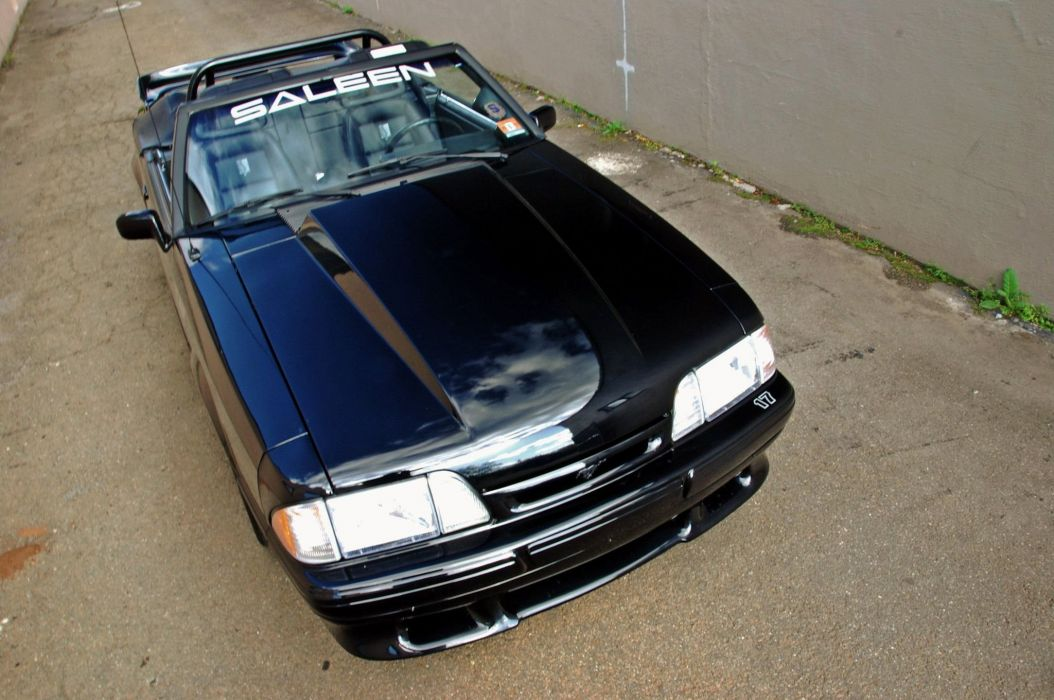 1993 custom ford mustang saleen convertible cars wallpaper