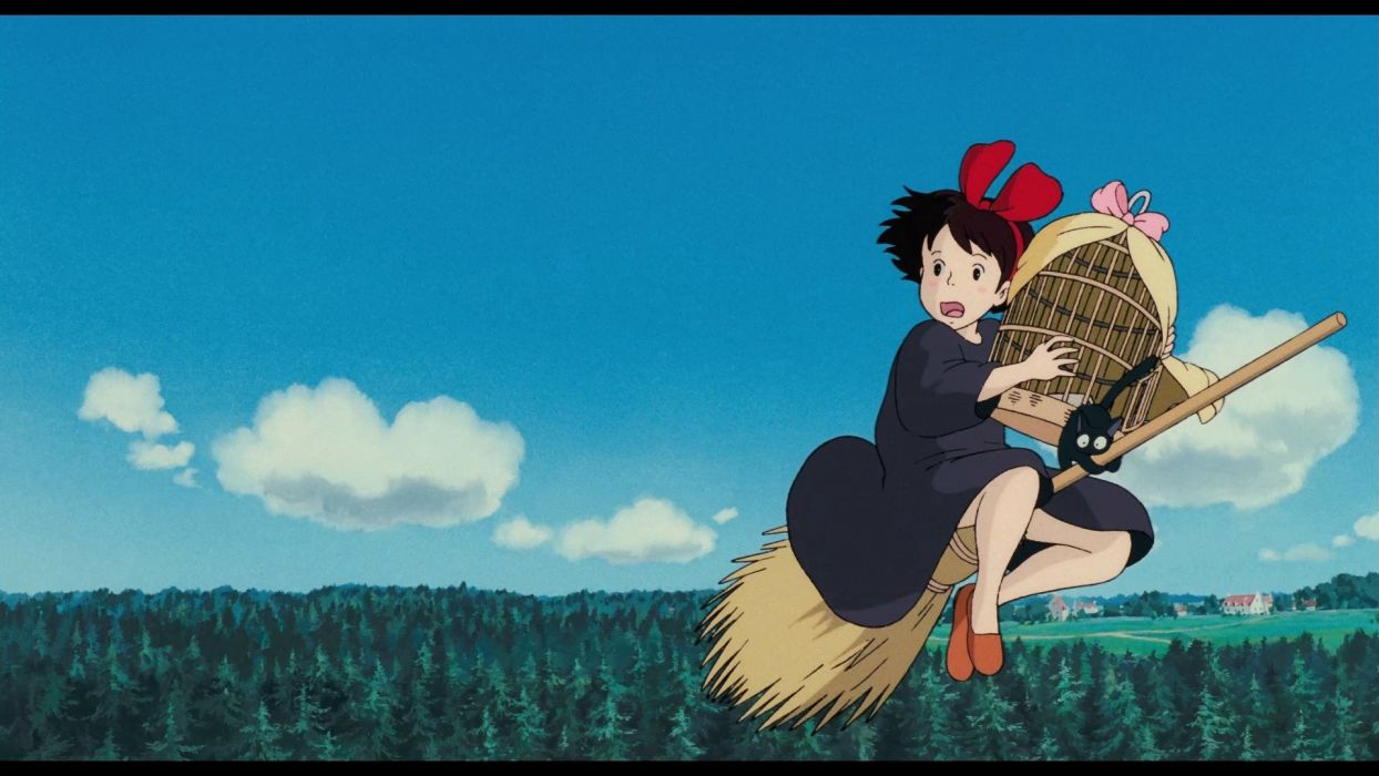 Kikis Delivery Service Kiki And Jiji With The Cage Wallpaper
