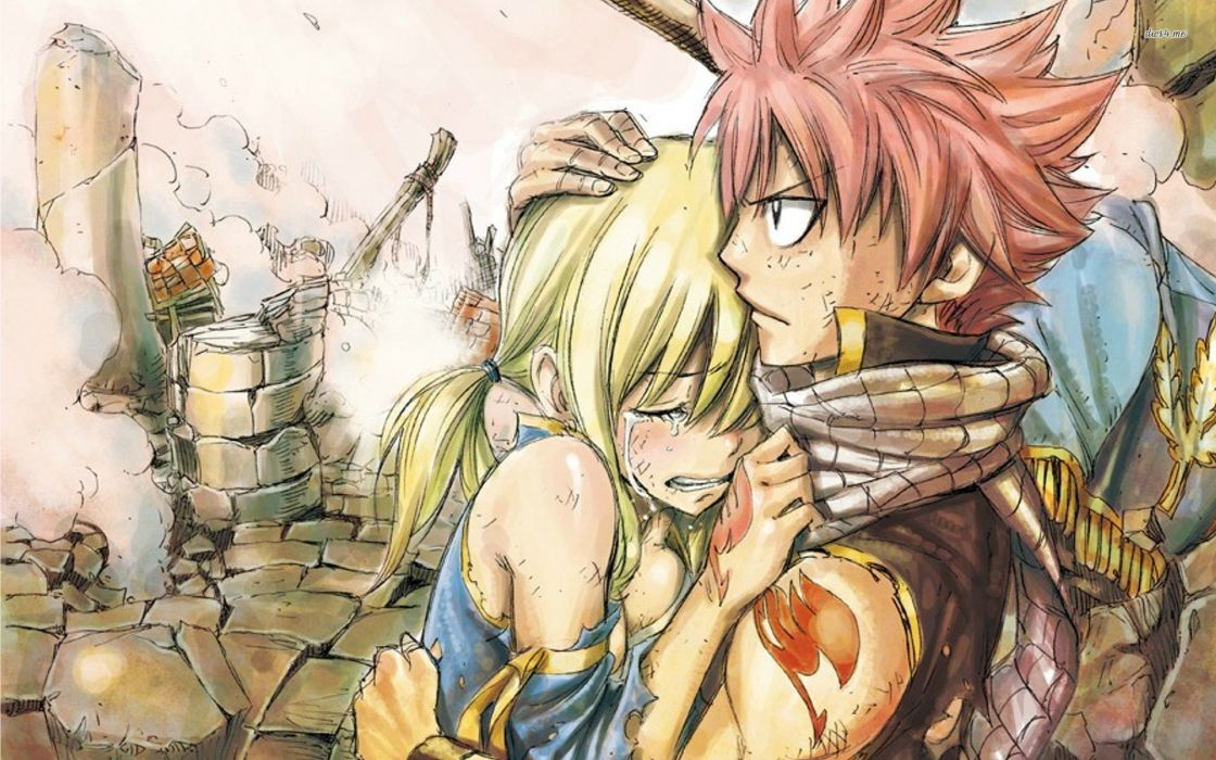 Fairy tail Natsu and Lucy wallpaper
