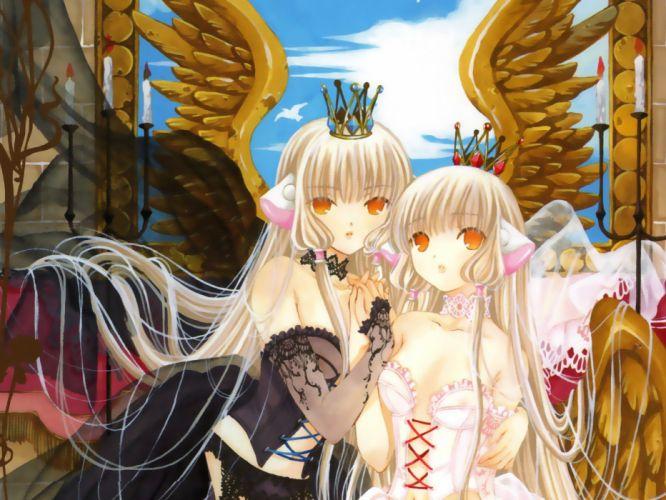 Chobits Freya and Chii wallpaper