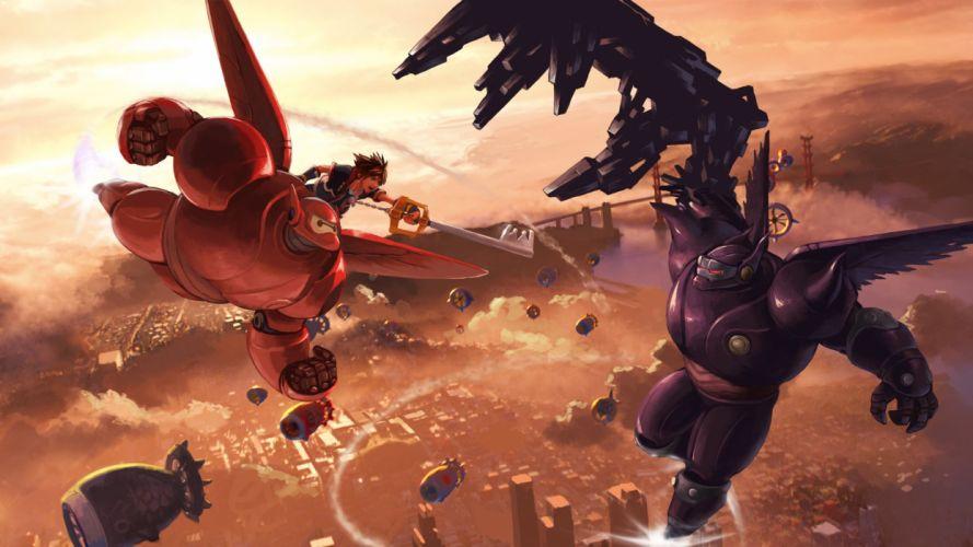Kingdom-Hearts 3 x Big-Hero-6 wallpaper