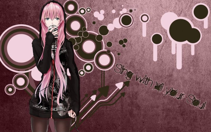 Vocaloid Megurine Luka sing wallpaper
