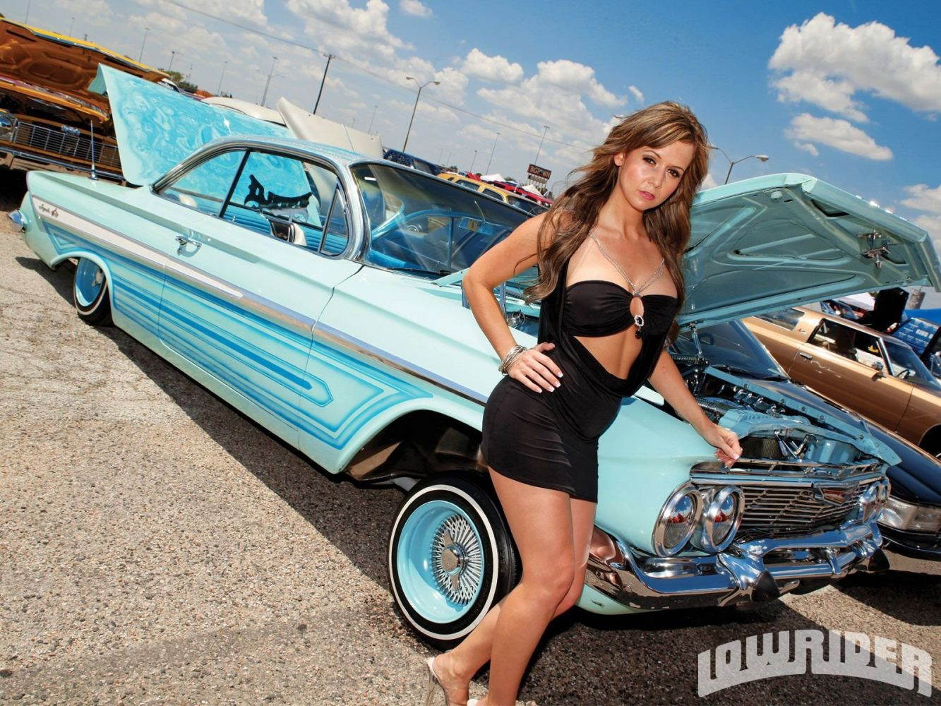 Nude models with lowriders