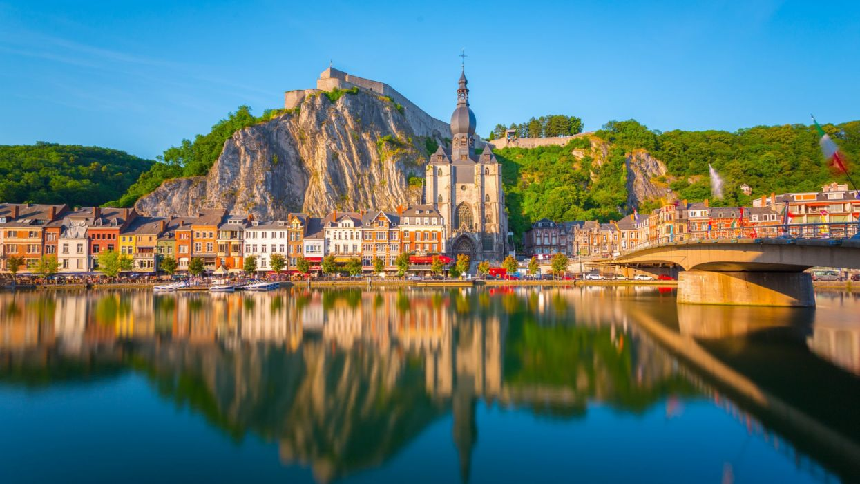 Dinant city in Belgium wallpaper